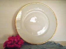 VINTAGE DINNER PLATE WHITE GOLD KPM 5211 GERMANY C1925-45 QUALITY 3 AVAILABLE