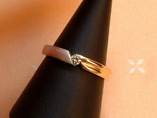 Exclusiver Brillant Ring - Solitär - 0,07 ct. - 14 Kt. Gold - 585 - Gr. 56 - NEU