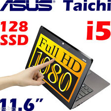 "NEW Asus Taichi CORE i5 FHD 11.6"" Touch Screen 128G SSD 4G Win8 Tablet UltraBook"