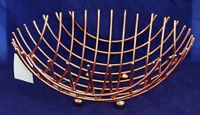 New 32cm Copper Coloured Stainless Steel Fruit Basket 21290