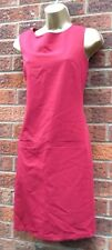 DEBENHAMS Burgundy Tunic Dress  With Front Pockets Size 20