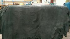 Black Antique Vintage Aged-Look reworked double buffed Whole Cow Hides