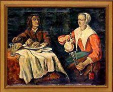 Schwedischer Maler um 1900  Weinprobe  Wandbild xxxxxxxxxx