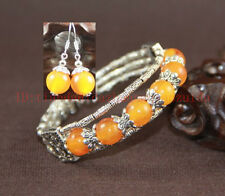 Exquisite hand- prepared Mellite tibet silver woman Bracelet and Earring set