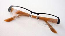 Brillengestell Brille TitanFassung halbrandlos schwarzbraun nickelfrei leicht M