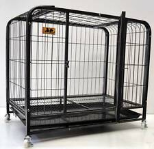 New Pet Dog Puppy 37' Large Castor Wheel Metal Steel Cage Crate kennel (#93Y)