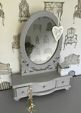 LIGHT SLATE GREY shabby / chic DRESSING TABLE MIRROR French style  belgravia