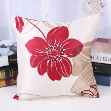 """Home Decorative 15""""Throw Pillow Case Sofa Seat Cushion Cover Flower Square Print"""