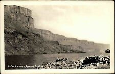 Lake Lenore Grand Coulee Talsperre Washington USA s/w postcard ~1920/30 Stausee