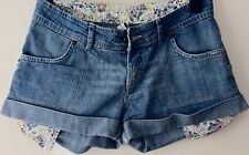 DENIM CO SIZE 8 HOT PANT/SHORTS.PALE BLUE DENIM. GREAT CONDITION.