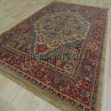 Kash Rugs Traditional Wilton Washed Antique Rug - Golden Beige & Green 120X170cm