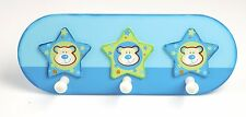 Tidlo Trio of Stars Wooden Childrens Coat Pegs / Hooks. Childs bedroom Decor
