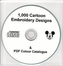 Machine Embroidery Designs Cartoon Characters Disney Brother Janome Singer CD