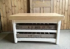 Rustic Handmade Wooden Pine Shabby Chic Coffee Table / TV stand Side End Table