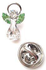 Swarovski Crystal Elements Birthstone Guardian Angel Pin August Peridot