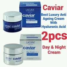 2×- HYALURONIC ACID EXTRACT BEST ANTI AGEING CAVIAR DAY & NIGHT CREAM