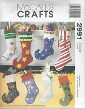 McCALL'S SEWING PATTERN CRAFTS CHRISTMAS STOCKINGS  M2991