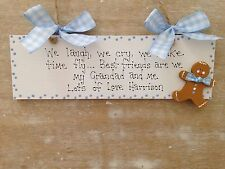 Personalised Grandad- Grandpa Wooden Gingerbread Man Sign Birthday Gift