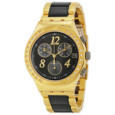Swatch Ladies Dreamnight Chronograph Yellow Gold Tone Watch YCG405G