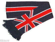 """Union Jack Scarf 5ft long 6"""" Wide (Made in the U.K By Mrs Barrett)"""