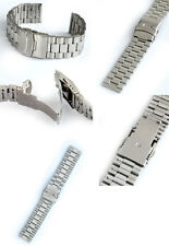 STAINLESS STEEL WATCH STRAP 24 MM WITH SAFETY CLASP NEW
