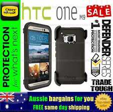 Otterbox Defender HTC One M9 Black Genuine Case Cover Trade Tough Strong Duty