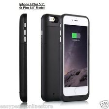 Black Iphone 6 6s Plus External 6800 mAh Rechargeable Power Case Cover iOs10