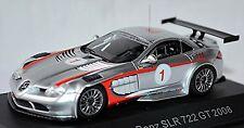 Mercedes Benz SLR McLaren 722 GT #1 Ludwig 2008 silber silver metallic 1:43
