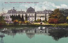 AK Bonn gel. 1918 Poppelsdorfer Schloß Botanischer Garten