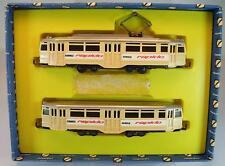 Arnold Rapido N Spur Set 0910/2 Wiking H0 Tram Straßenbahnzug beige in Box #5175