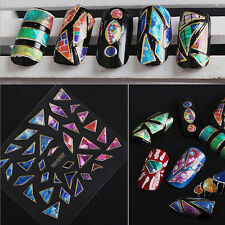 15 Sheets Nail Art Transfer Stickers 3D Design Manicure Tips Decal Decoration