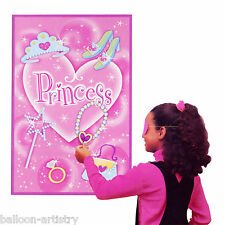 14 Piece Pink Princess Girls Birthday Party Game Set