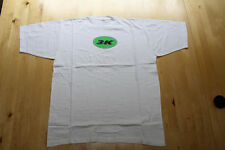 """WHITE T-SHIRT WITH """"3K"""" LOGO ON FRONT ~  SIZE LARGE"""
