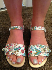 HUSH PUPPIES CORSICA CORAL FLORAL BUCKLE Sandals Size Uk 5 (38) NEW WITHOUT TAGS