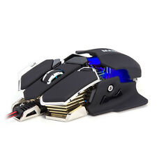 Mit LED Licht 4800DPI 10D Pro Gamer Mouse Maus Gaming für PC Laptop