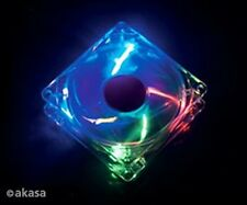 Akasa 120mm Ultra Quiet Case Fan with Four colour LED Sleeve Bearing