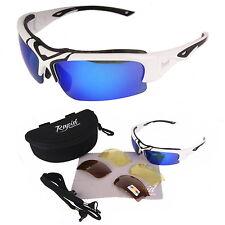 Weiß SPORTBRILLE POLARISIERT mit WECHSELGLÄSER: Ski, Rad, Laufen, Segeln Brille
