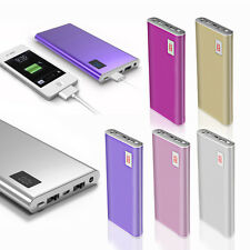 AU 50000mAh Power Bank 2 USB LED Backup Pack Battery Charger For iPhone7 6 5s 4s