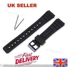 New Replacement Rubber Watch Strap Band For Casio F91W More Models 18mm Black