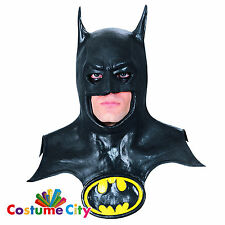 Adults Official Classic DC Batman Mask & Cowl Fancy Dress Costume Accessory