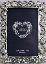 "Diamante Heart Frame - 6"" x 4"" Photo OG098"