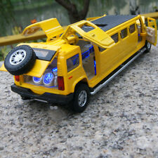 1:32 Hummer H6 MPV7 Yellow Car Model Alloy Diecast Sound & Light 5-door sunroof