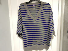 Bhs grey and blue stripe jumper size 22