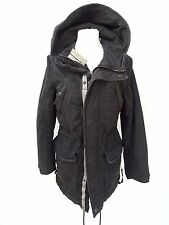Ladies SUPERDRY Double Black Label HUNTER PARKA JACKET Size SMALL (940)