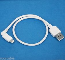 0.3m SHORT Data Charger Right Angle USB Cable WHITE for iPad Pro Air 2 mini 4 3