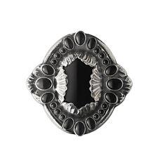 Georg Jensen Silver Brooch No. 1 w/ Black Agate