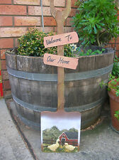 WELCOME TO OUR HOME WOODEN COUNTRY SHOVEL WITH DUCKS WALL SIGN