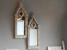 """Gothic ornate mirror in authentic.""""antique limestone"""" MGO  A PAIR"""