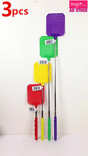 3 x 72cm Extendable Fly Mosquitos Swatter Random Color Telescopic Handle 17-7955