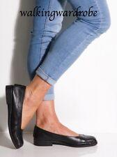 UK6.5 Black Soft Leather Marks & Spencer Footglove Flat Ballet Pump Slip On